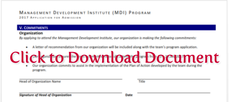 Download Commitement Form